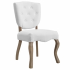 Modway Array Vintage French Upholstered Dining Side Chair in White MY-EEI-2878-WHI