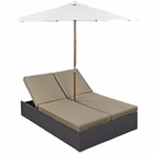 Modway Arrival Outdoor Patio Chaise in Espresso Mocha MY-EEI-980-EXP-MOC