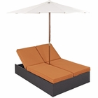 Modway Arrival Outdoor Patio Chaise in Espresso Orange MY-EEI-980-EXP-ORA