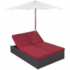 Modway Arrival Outdoor Patio Chaise in Espresso Red MY-EEI-980-EXP-RED
