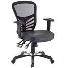 Modway Articulate Faux Leather Office Chair in Black MY-EEI-755-BLK