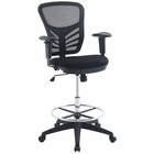 Modway Articulate Mesh Drafting Chair in Black MY-EEI-2289-BLK