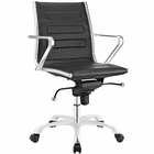 Modway Ascend Mid Back Faux Leather Office Chair in Black MY-EEI-2214-BLK