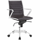 Modway Ascend Mid Back Faux Leather Office Chair in Brown MY-EEI-2214-BRN