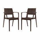 Modway Astute Dining Chairs Set of 2 in Coffee MY-EEI-2413-COF-SET