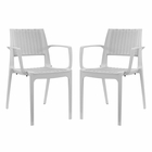 Modway Astute Dining Chairs Set of 2 in Gray MY-EEI-2413-GRY-SET