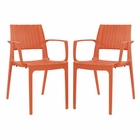 Modway Astute Dining Chairs Set of 2 in Orange MY-EEI-2413-ORA-SET