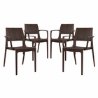 Modway Astute Dining Chairs Set of 4 in Coffee MY-EEI-2414-COF-SET