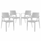 Modway Astute Dining Chairs Set of 4 in Gray MY-EEI-2414-GRY-SET