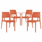 Modway Astute Dining Chairs Set of 4 in Orange MY-EEI-2414-ORA-SET