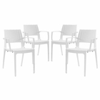 Modway Astute Dining Chairs Set of 4 in White MY-EEI-2414-WHI-SET