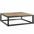 Modway Attune Large Pine Wood and Iron Coffee Table in Brown MY-EEI-2775-BRN