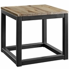 Modway Attune Pine Wood and Iron Side Table in Brown MY-EEI-2773-BRN