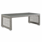Modway Aura Rattan Outdoor Patio Coffee Table in Gray MY-EEI-2919-GRY