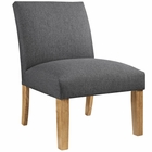 Modway Auteur Upholstered Fabric Armchair in Gray MY-EEI-1401-GRY