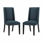 Modway Baron Parsons Dining Chairs Upholstered Fabric Set of 2 in Azure MY-EEI-2748-AZU-SET
