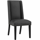 Modway Baron Parsons Faux Leather Dining Side Chair in Black MY-EEI-2232-BLK