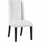 Modway Baron Parsons Faux Leather Dining Side Chair in White MY-EEI-2232-WHI
