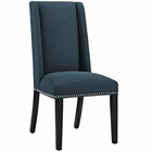 Modway Baron Parsons Upholstered Fabric Dining Side Chair in Azure MY-EEI-2233-AZU
