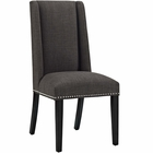 Modway Baron Parsons Upholstered Fabric Dining Side Chair in Brown MY-EEI-2233-BRN