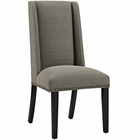 Modway Baron Parsons Upholstered Fabric Dining Side Chair in Granite MY-EEI-2233-GRA