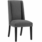 Modway Baron Parsons Upholstered Fabric Dining Side Chair in Gray MY-EEI-2233-GRY