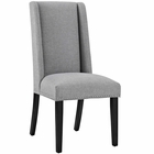 Modway Baron Parsons Upholstered Fabric Dining Side Chair in Light Gray MY-EEI-2233-LGR