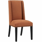 Modway Baron Parsons Upholstered Fabric Dining Side Chair in Orange MY-EEI-2233-ORA