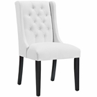 Modway Baronet Faux Leather Dining Chair in White MY-EEI-2234-WHI