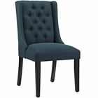 Modway Baronet Upholstered Fabric Dining Chair in Azure MY-EEI-2235-AZU