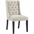 Modway Baronet Upholstered Fabric Dining Chair in Beige MY-EEI-2235-BEI