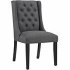 Modway Baronet Upholstered Fabric Dining Chair in Gray MY-EEI-2235-GRY