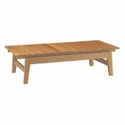 Modway Bayport Outdoor Patio Teak Wood Coffee Table in Natural MY-EEI-2699-NAT