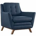 Modway Beguile Upholstered Fabric Armchair in Azure MY-EEI-1798-AZU