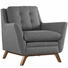 Modway Beguile Upholstered Fabric Armchair in Gray MY-EEI-1798-DOR