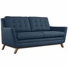Modway Beguile Upholstered Fabric Loveseat in Azure MY-EEI-1799-AZU