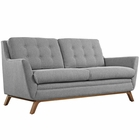 Modway Beguile Upholstered Fabric Loveseat in Expectation Gray MY-EEI-1799-GRY