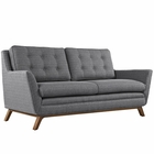 Modway Beguile Upholstered Fabric Loveseat in Gray MY-EEI-1799-DOR