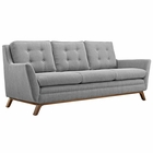 Modway Beguile Upholstered Fabric Sofa in Expectation Gray MY-EEI-1800-GRY