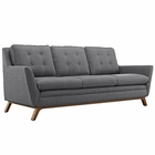 Modway Beguile Upholstered Fabric Sofa in Gray MY-EEI-1800-DOR