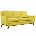 Modway Beguile Upholstered Fabric Sofa in Sunny MY-EEI-1800-SUN