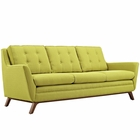 Modway Beguile Upholstered Fabric Sofa in Wheatgrass MY-EEI-1800-WHE