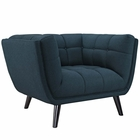 Modway Bestow Upholstered Fabric Armchair in Blue MY-EEI-2732-BLU
