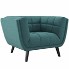 Modway Bestow Upholstered Fabric Armchair in Teal MY-EEI-2732-TEA