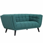 Modway Bestow Upholstered Fabric Loveseat in Teal MY-EEI-2534-TEA