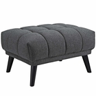 Modway Bestow Upholstered Fabric Ottoman in Gray MY-EEI-2734-GRY