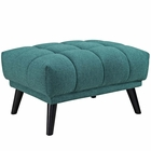 Modway Bestow Upholstered Fabric Ottoman in Teal MY-EEI-2734-TEA