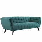 Modway Bestow Upholstered Fabric Sofa in Teal MY-EEI-2730-TEA