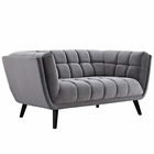 Modway Bestow Velvet Loveseat in Gray MY-EEI-2535-GRY