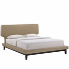 Modway Bethany Queen Bed in Black Latte MY-MOD-5237-BLK-LAT